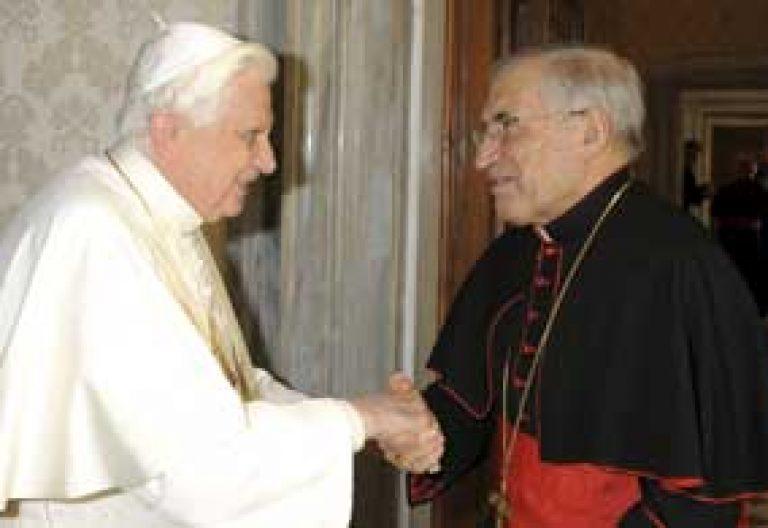 papa Benedicto XVI y cardenal Antonio María Rouco Varela