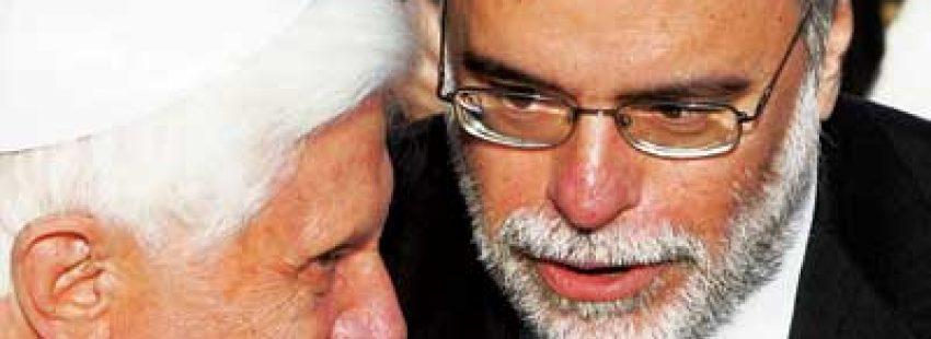 Benedicto XVI con Andrea Riccardi