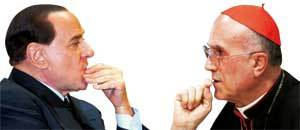 Berlusconi-frente-a-Bertone