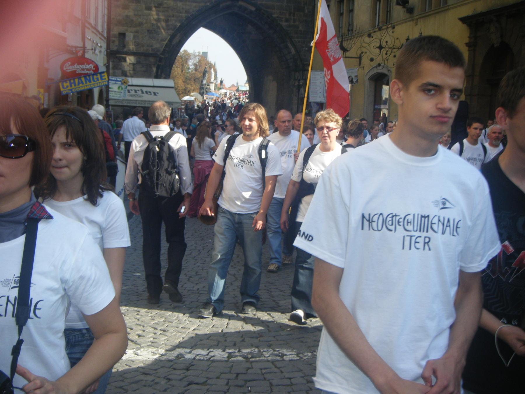 Jóvenes polacos del Camino Neocatecumenal en el encuentro con el Papa