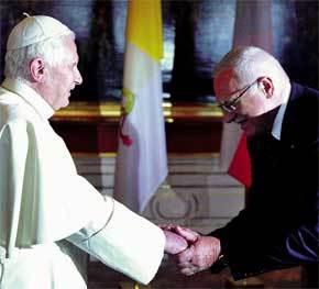 Benedicto XVI con el presidente Vaclav Klaus