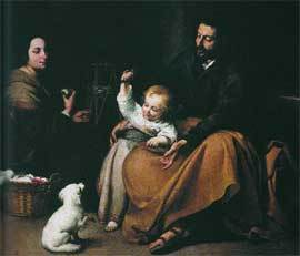 'La sagrada familia del pajarito', de Murillo