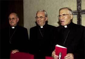 De izda. a dcha., Blázquez, Fratini y Rouco