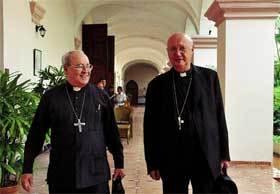 Claudio Maria Celli y el cardenal de La Habana, Jaime Ortega