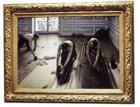'Acuchilladores de parqué', de Caillebotte