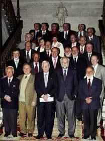 Los directores de las Academias de la Lengua Española, durante la presentación de la obra