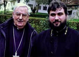 El obispo Sánchez y el padre ortodoxo Emilien