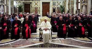La Sala Clementina acogió la audiencia del Papa al Pontificio Consejo para la Familia