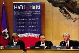 Inauguración de la Cumbre de Montreal para preparar las ayudas a Haití