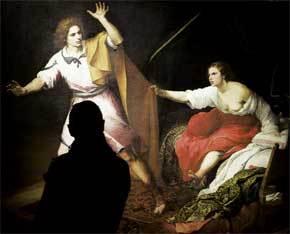 Detalle de la obra 'José y la mujer de Putifar'
