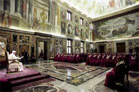 Benedicto XVI recibió a los miembros del Tribunal de la Rota en la apertura del año judicial 2010