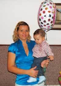 Ana, con su hijo Sergio