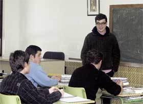 José Bernardo, con algunos de los alumnos