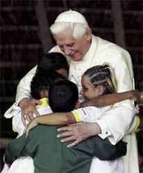 El Papa, en su visita a la Hacienda de Brasil