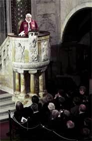 Visita al templo luterano de Roma, el 14 de marzo