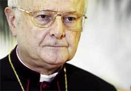 El presidente del Episcopado alemán, Robert Zollitsch