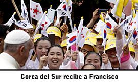 Noticias, Corea del Sur recibe a Francisco