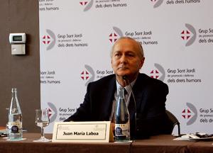Juan María Laboa en su intervención en el Grup Sant Jordi