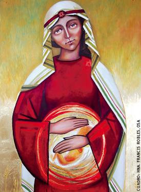 cuadro Madre de la Vida, autora Hna Francis Robles, Monaterio de la Conversión OSA
