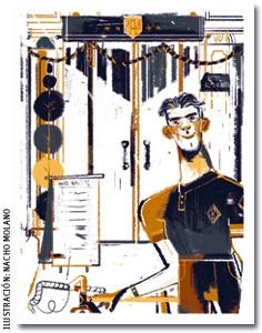 ilustración de Nacho Molano para el cuento Un favor de Javier Morales