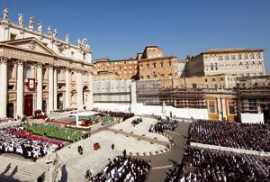 inauguración del Año de la fe Plaza de San Pedro 11 de octubre 2012
