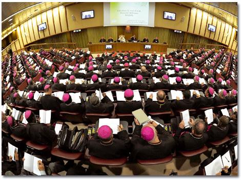 sesión del Sínodo de Obispos para la Nueva Evangelización octubre 2012