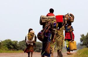 refugiados desplazados por la violencia en República Democrática del Congo