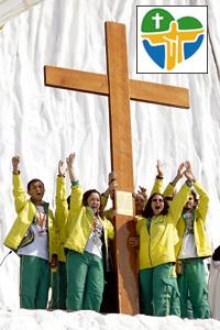jóvenes de Brasil reciben la cruz de la JMJ
