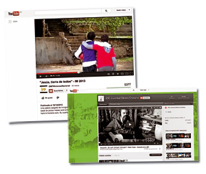 pantallazos de los vídeos de JOC y OMP España