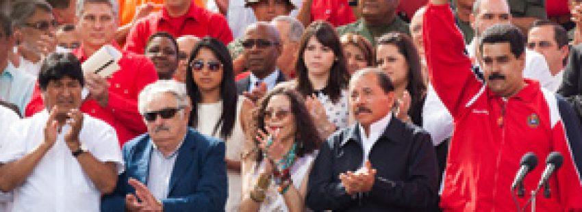 Nicolás Maduro y otros líderes latinoamericanos en un acto de solidaridad con Hugo Chávez