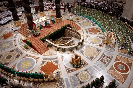 misa en la basílica de San Pedro en la inauguración del Año de la fe 11 octubre 2012