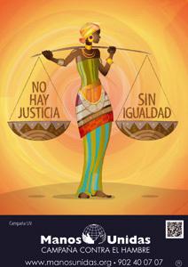 cartel de la 54 Campaña de Manos Unidas 2013 justicia e igualdad