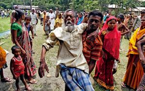cristiano perseguido en la India es llevado a un campo de refugiados