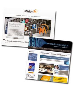 capturas de pantalla de webs iMision y Evangelización Digital