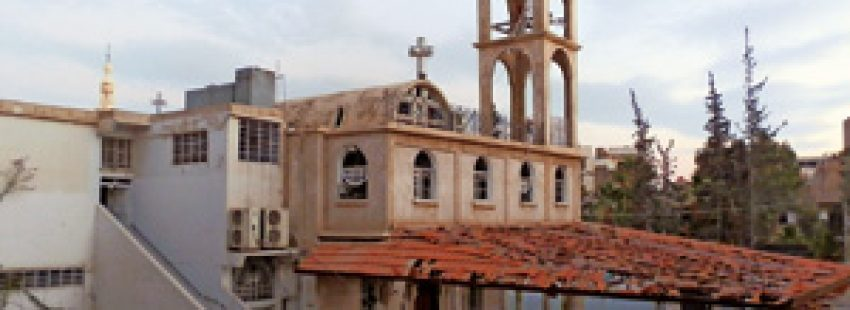 iglesia atacada deliberadamente en Siria por grupos armados de oposición