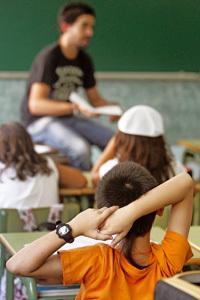 niños en clase en el aula en la escuela