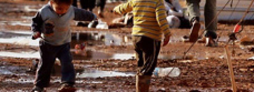 niños sirios refugiados en Jordania