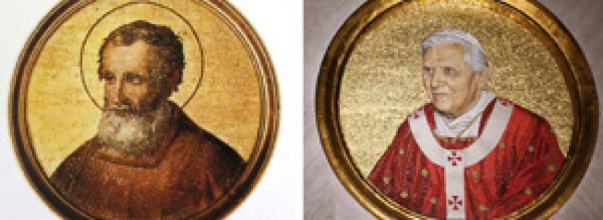 papas Benedicto XVI y Celestino V renunciaron