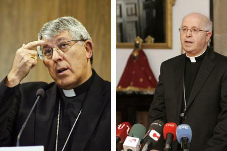 Braulio Rodríguez y Julián Barrio arzobispos de Toledo y Santiago Compostela