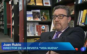 Juan Rubio director de Vida Nueva en el telediario TVE