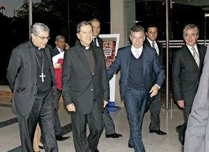 presidente Colombia Juan Manuel Santos y cardenal Rubén Salazar febrero 2013