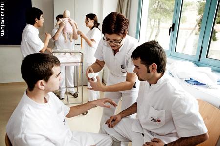 alumnos del centro docente salud Sant Joan de Déu Barcelona