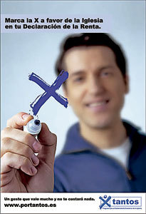 cartel campaña renta Por tantos marcar casilla Iglesia católica IRPF