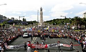 crisis en Portugal protesta ciudadana en la calle