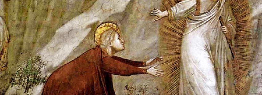 Nole me tangere María Magdalena quiere acercarse a Jesús después de la resurrección