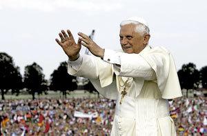 papa Benedicto XVI en Alemania 2005 JMJ Colonia