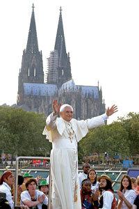 papa Benedicto XVI en la JMJ de Colonia Alemania en 2005