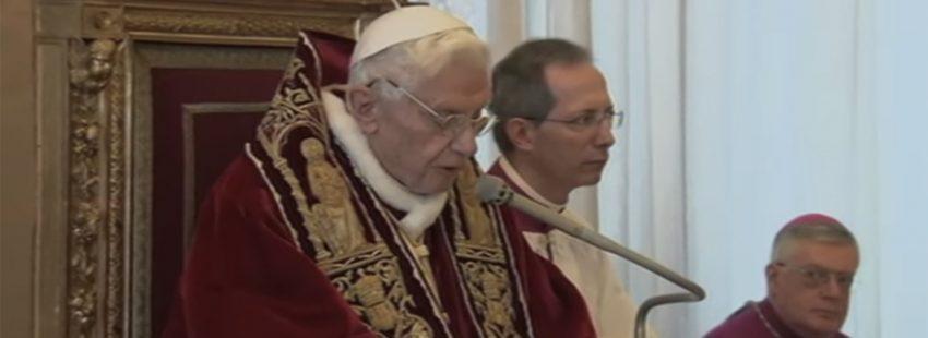 papa Benedicto XVI renuncia 11 febrero 2013