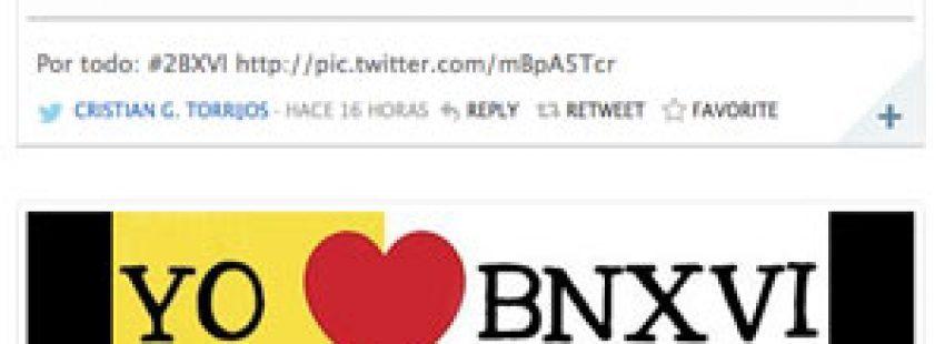 las redes sociales se vuelcan con mensajes de apoyo y agradecimiento al papa Benedicto XVI