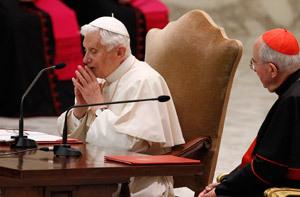 papa Benedicto XVI encuentro con sacerdotes 14 febrero 2013